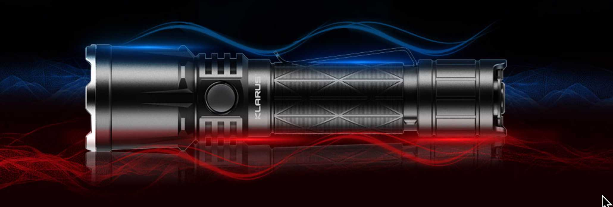 Klarus tactical flashlight